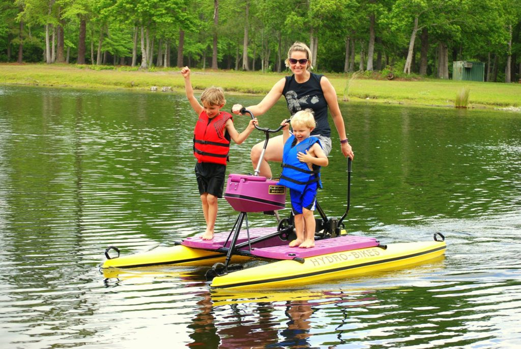 Water bikes by Hydrobike provide great fun for your guests of all ages!